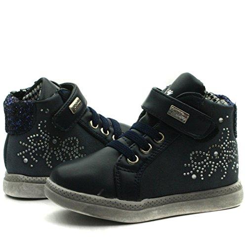 MS007 Miss Sixty with side zip Baby Ankle Boot for Girls >      > Bébé Bottines avec fermeture à glissière latérale pour les filles Navy Blue (bleu)
