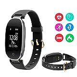 LanLan Orologi da donna,Fitness Tracker, Impermeabile IP67, Orologio Fitness Activity Tracker,Cardiofrequenzimetro da Polso Contapassi Braccialetto Pedometro Smart Watch per Android e iOS Smartphone