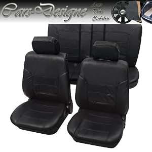 Pour sièges avant de voiture en cuir véritable tEXAS protection de housses de siège housse de siège housses de siège noir pour bMW e30 série 3 e36/e46, e90, e91, e92, e93, mini mini one, cooper, x3 e83