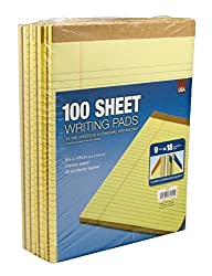 Tops 100-Sheet Legal Pads Canary Yellow (pack of 9 pads) by Tops