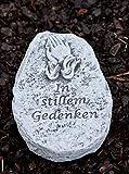 """Grabschmuck Grabstein """"In stillem Gedenken"""", frost- und wetterfest bis -30°C, massiver Steinguss"""