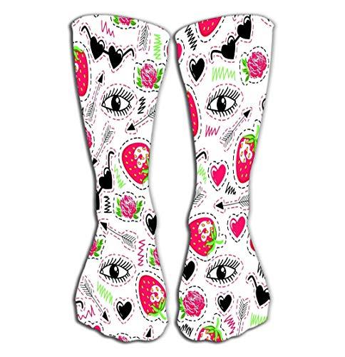 Hohe Socken High Stockings Athletic Compression Long Socks for Men's Women and Girls 19.7