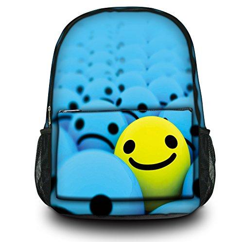 Luxburg® Design Rucksack Multifunktionsrucksack Ranzen Schulranzen Sporttasche Backpack Smiley Highlight
