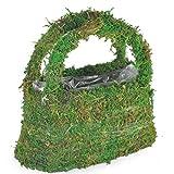 Handtasche Garten Pflanzkorb Handmade Woven Moss Handtasche Pflanzkorb Handwoven Green Flower Basket Hochzeit Zubehör