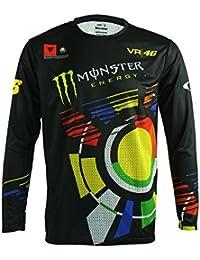 M.Baxter Moda de Primavera/Otoño Transpirable de Secado Rápido de Manga Larga Ejecución Montar Eescudo Camiseta