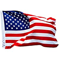 Deutschland - Europa - Amerika Flagge & deutsche Fahne mit Adler | mit 2 Messing-Ösen | Europaflagge amerikanische Flagge - Deutschlandfahne - Europafahne | Flaggen Fahnen Fanartikel 90 x 150 cm & 60 x 90 cm