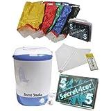 Secret Smoke–Waschmaschine Entnahme Harze kalt (Ice Washer Resins Extraction) + Kit Taschen Secret Icer 5Beuteln–With 5Bags