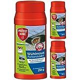 SBM Protect Home GARDOPIA Sparpaket: 3 x 250g Rodicum Wühlmaus Portionsköder + Gardopia Zeckenzange mit Lupe