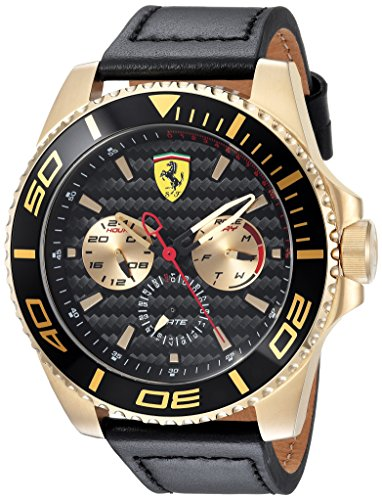 ferrari-mens-xx-kers-quartz-gold-tone-and-leather-casual-watch-colorblack-model-0830419