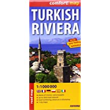 Turkish Riviera 1 : 1 000 000: Places of interest, national parks, up-to-date road network, road numbering, distances in kilometres, 7 city maps. ExpressMap (Express Maps)