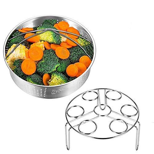 Sxuefang Eierkocher Hot Dampferkorb mit Eierkocherhalter für Schnellkochtopf und Schnellkochtopf Zubehör Gemüse-Dampfständer