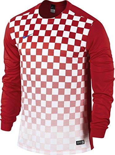 Nike t-shirt à manches longues en jersey yth de précision iII Multicolore - University Red/Football White/Royal Blue
