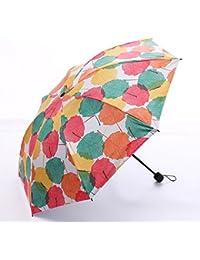 MinegRong Black Umbrella Maple Leaf Small Fresh Umbrella Adorno de Paraguas de plástico Negro Personalizado,