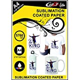Crazy Sutra Matte Coated Dye Sublimation Sipper Printing A4 Paper (50pc) | Sublimation Paper | Sipper Printing Paper [Paper_SubPaperSipper50Pc2]