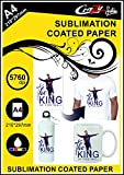 Crazy Sutra Matte Coated Dye Sublimation Sipper Printing A4 Paper (50pc) | Sublimation Paper | Sipper Printing Paper [Paper_SubPaperSipper50Pc18]