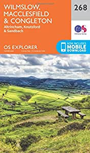 OS Explorer Map (268) Wilmslow, Macclesfield and Congleton