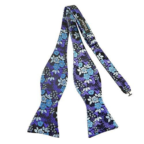 Pensee Herren Fliege Selbst Mehrfarbig Floral Silk Bow Ties Fashion Silk Bow Tie