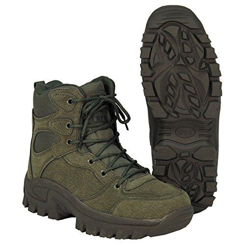 MFH Stiefel Commando Einsatzstiefel Trekking-Schuh Knöchelhoch Wanderschuh Bergschuh Outdoorschuh Größe 40-46 (43) Herren Military Fashion Stiefel