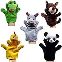 Handpuppen für Kinder 8x Tierpuppen Handspielpuppen Affenpuppe Zoo Set Kleinkind Spielzeug Baby