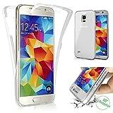 TPU Full Body 360 ° Transparent Cover Samsung Galaxy S5 / S5 Neo Hülle Case Beidseitig Schale Vorderseite + Rückseite Handy Tasche Schutz Etui Bumper von Vada-Tec