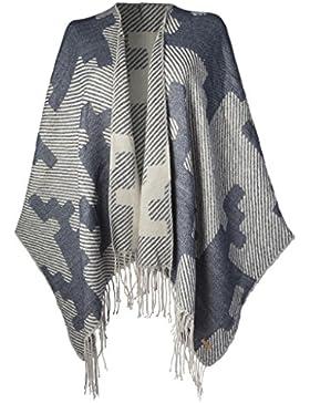 Barts15-0000003456, Poncho Para Mujer, Azul (Navy), talla única