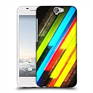 Snoogg Colourful lightning Designer Protective Back Case Cover For HTC one A9