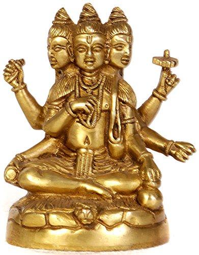 composite-image-of-brahma-vishnu-y-mahesh-laton-escultura
