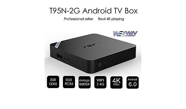 WELLWIN T95N Mini M8S pro Android 6 0 TV BOX Amlogic S905X Quad core