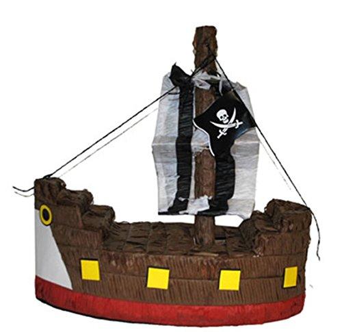 Party Palast - Piñata Piraten Schiff Party Dekoration Pinata Füllung, 45x20cm, Mehrfarbig