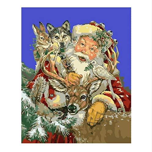 XIGZI Pater Christmas Oil Painting Kits Färbung Nach Zahlen Bild Bilder Von Hand Einzigartige Geschenk Home Decor Für Kinder 40x50 cm
