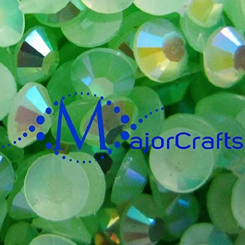 200x Green AB 6mm ss30 Flat Back Resin Rhinestones, Beads, Gems by MajorCrafts