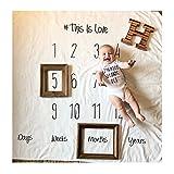 Amorar Neugeborenes Fotografie Wrap, DIY Neugeborenes Fotografie Foto Requisiten Wrap monatliche Meilenstein Decke Foto Hintergrund, Baby Fotoshooting Accessoires