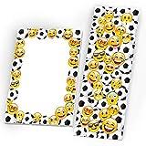 6 Notizblöcke + 6 Lesezeichen Mitgebsel Fussball bunt Gastgeschenk beim Geburtstag Kindergeburtstag Jungen Jungsgeburtstag