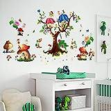 Butterfly Elf Fantasie Pilz Hütte Wandaufkleber Cartoon Flügel Engel Baum Kinder Schlafzimmer Abnehmbare Selbstklebende Wandg