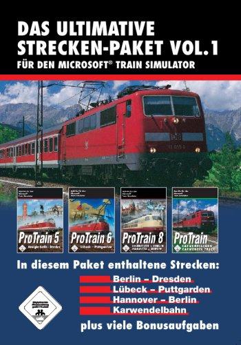 Train Simulator - Das ultimative Strecken-Packet Vol. 1 (ProTrain 5 Berlin - Dresden / ProTrain 6 Lübeck - Puttgarden / ProTrain 8 Hannover - Berlin / ProTrain Karwendelbahn)