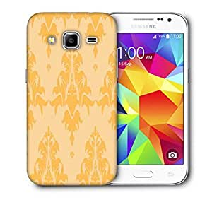 Snoogg Cream String Pattern Printed Protective Phone Back Case Cover For Samsung Galaxy Core Plus G3500