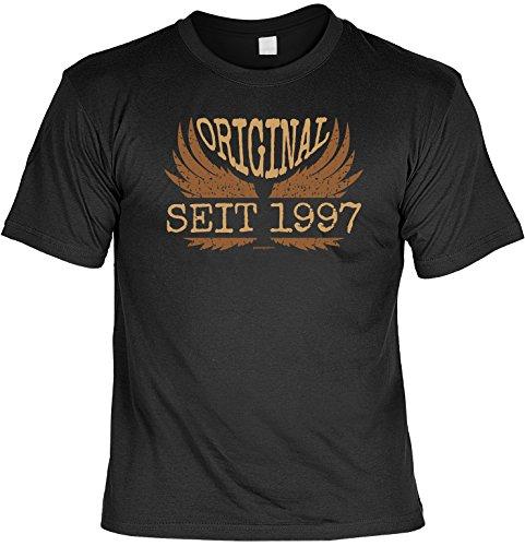 Cooles T-Shirt zum 20. Geburtstag 20 Jahre Original seit 1997 - Geschenk zum 20. Geburtstag 20 Jahre Geburtstagsgeschenk Schwarz