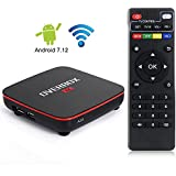 Smart TV Box Android 7.12 [Ultima Versione] Set Top Box 1GB RAM/8GB ROM Amlogic S905X Quad Core 64bit 2.4G/5GHz WiFi, 3D Full HD, H.265, DLNA Media Player 4K