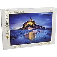 Clementoni 31994 - Puzzle Collezione Alta Qualità Le Mont St.Michel di Notte, 1500 Pezzi