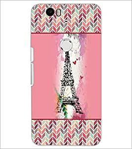 PrintDhaba Tower D-4152 Back Case Cover for HUAWEI NEXUS 6P (Multi-Coloured)