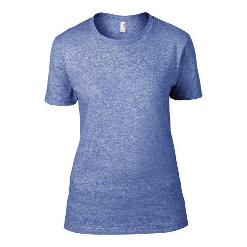 Anvil Damen T-Shirt, leicht tailliert Neonblau