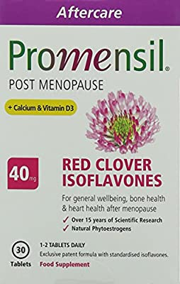 Promensil, Post Menopause, Red Clover, Isoflavones, 40mg Plus Calcium & Vitamin D3 - Pack of 90 Tablets by PharmaCare Europe Ltd