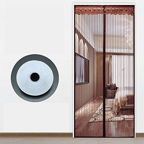 Verstärkt Magnet vorhang, Verschlüsselung weichen fliegengitter Leise Moskito vorhang Magnete-moskitonetz-bildschirme Haushalt Schlafzimmer-A 90x190cm(35x75inch)