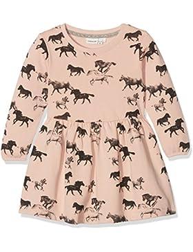 NAME IT Baby-Mädchen Kleid Nitditan Ls Swe Dress Bru F Mini