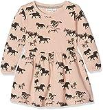 NAME IT Baby-Mädchen Kleid Nitditan LS Swe Dress Bru F Mini, Mehrfarbig (Evening Sand)