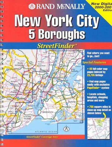 Rand McNally New York City 5 Boroughs: Streetfinder (Rand McNally Streetfinder) -