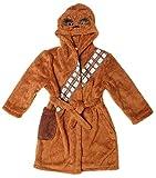 Garçons Star Wars Chewbacca Visage à Capuche Peignoir Robe de Chambre Tailles de 7 pour 12 Ans - Marron, 7-8 Years