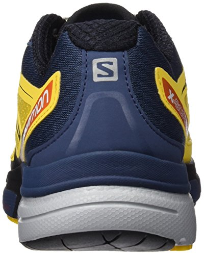 Salomon X-Scream 3d, Chaussures de Running Entrainement Homme Bee X Slate Blue Solar Orange