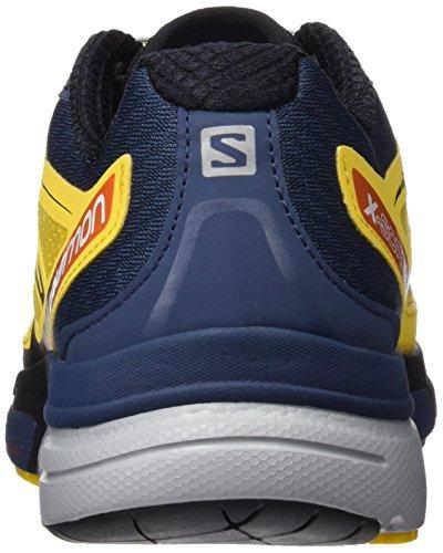 Salomon X-Scream 3d, Scarpe da Trail Running Uomo Bee X Slate Blue Solar Orange