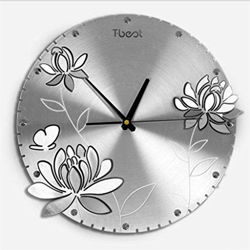 Modische Schlafzimmer Wohnzimmer Farbe Himmel Pfingstrose Rich Quiet Clock And Watch Runde -